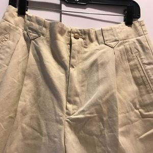High waisted Palito khaki Ralph Lauren shorts